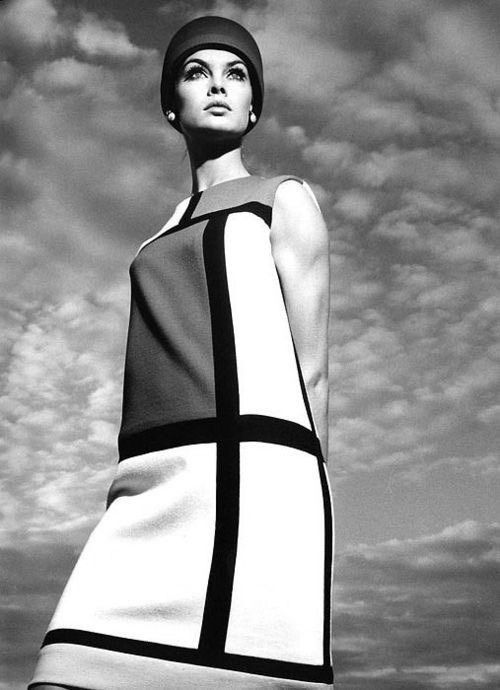 dress 1965 - JeanShrimpton, Mondrian - bauhaus-movement | ello