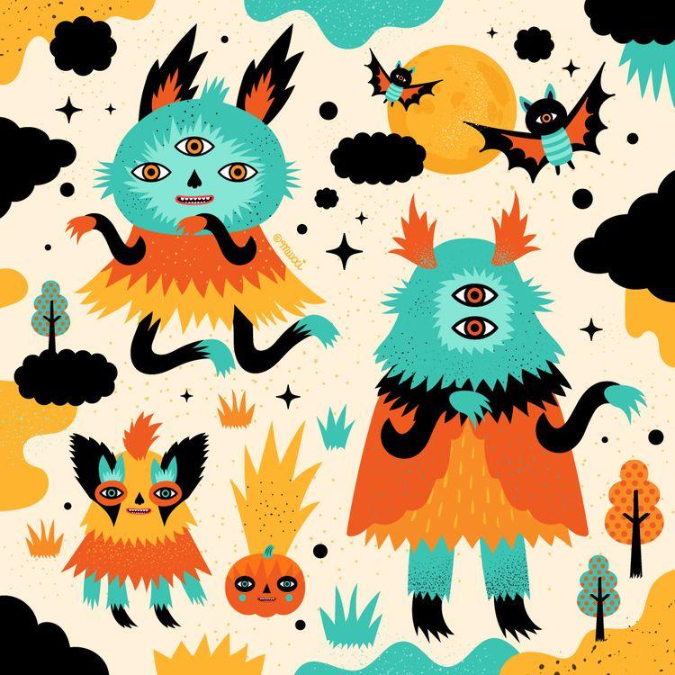 halloween, character, characterdesign - muxxi | ello