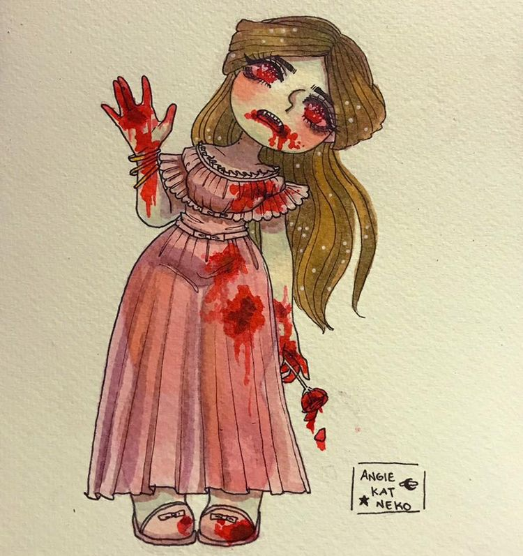 Inktober Day 19: Blood Witch - witchoposcule - angiekatneko | ello
