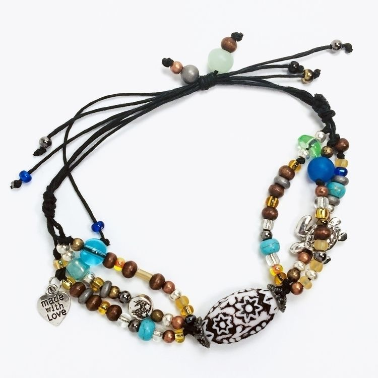 """Hawaiian Inspired Beaded Brace - artfilledsoul 