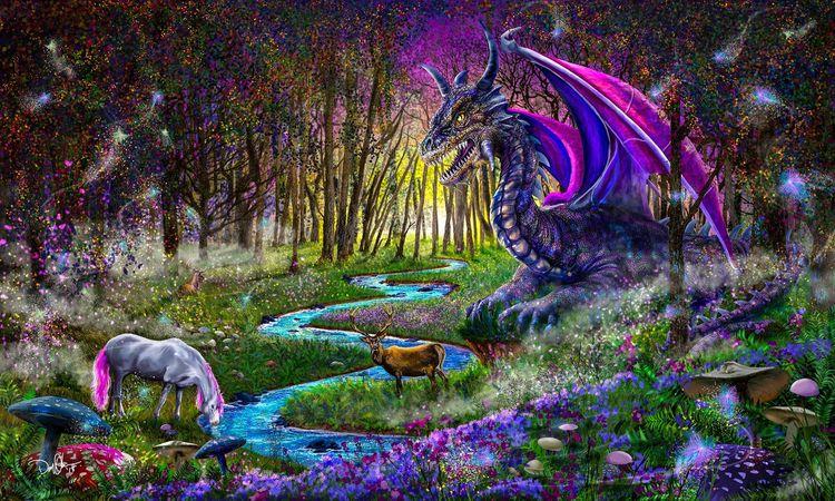 Watcher Woods - fantasyart, dragonart - donolea | ello