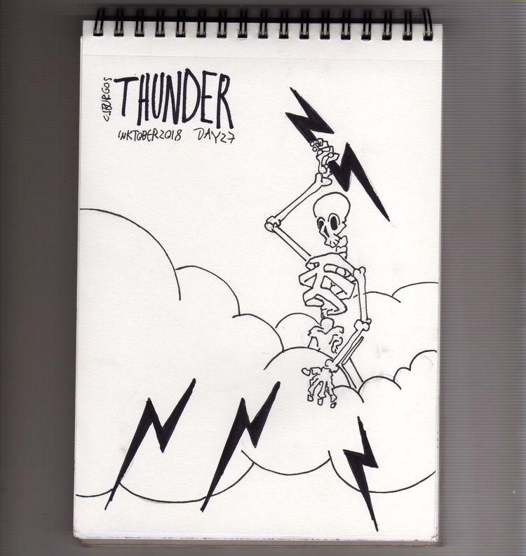 day 27 - inktober2018, thunder, tipography - cjburgos | ello