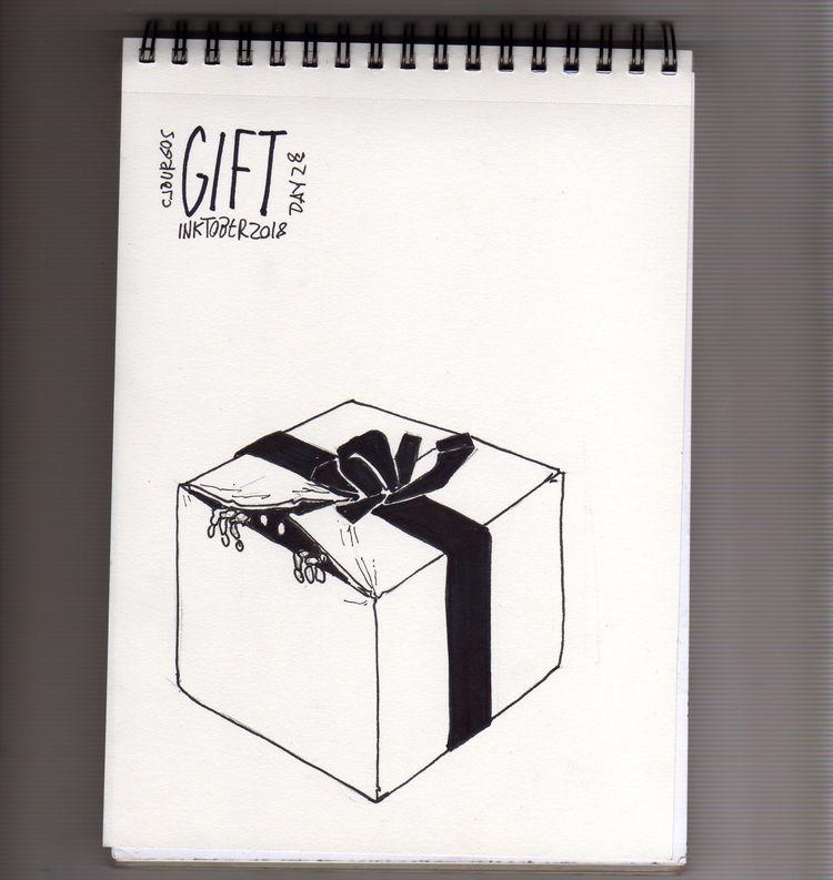 day 28#gift - inktober2018, tipography - cjburgos | ello