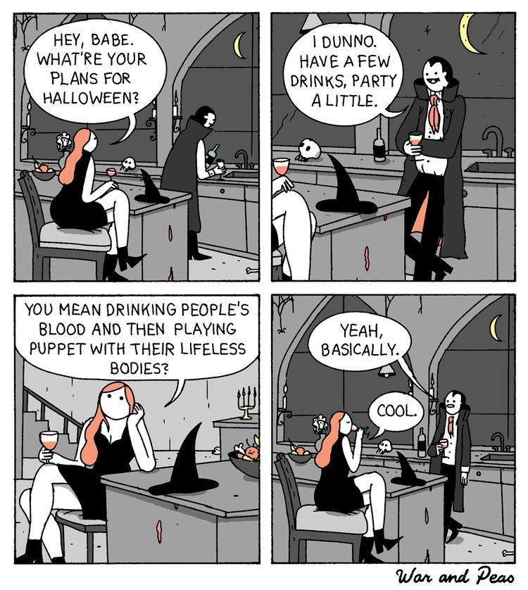 Drinks - comic, webcomic, warandpeas - warandpeas | ello