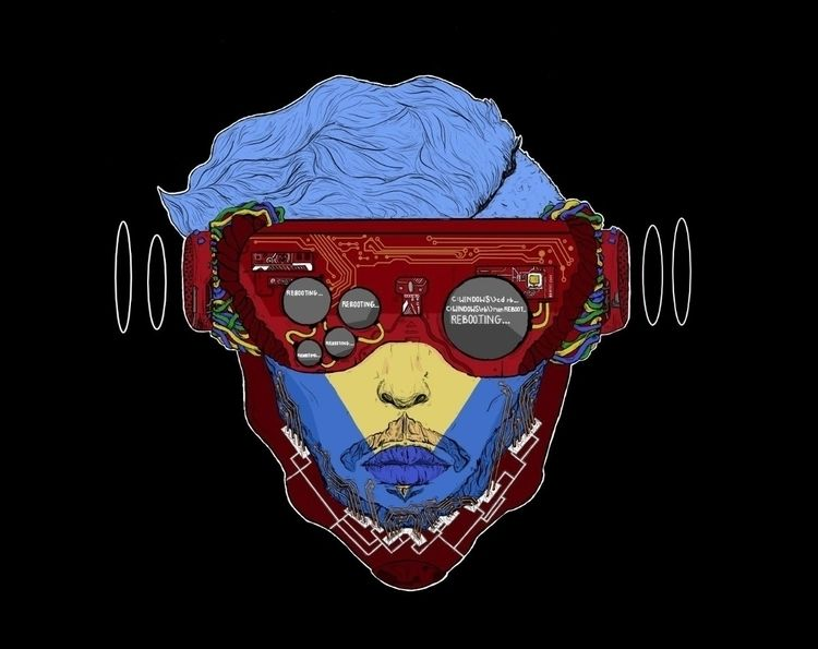 Ree - illustration, cyberpunk, drawing - monas-ghost   ello
