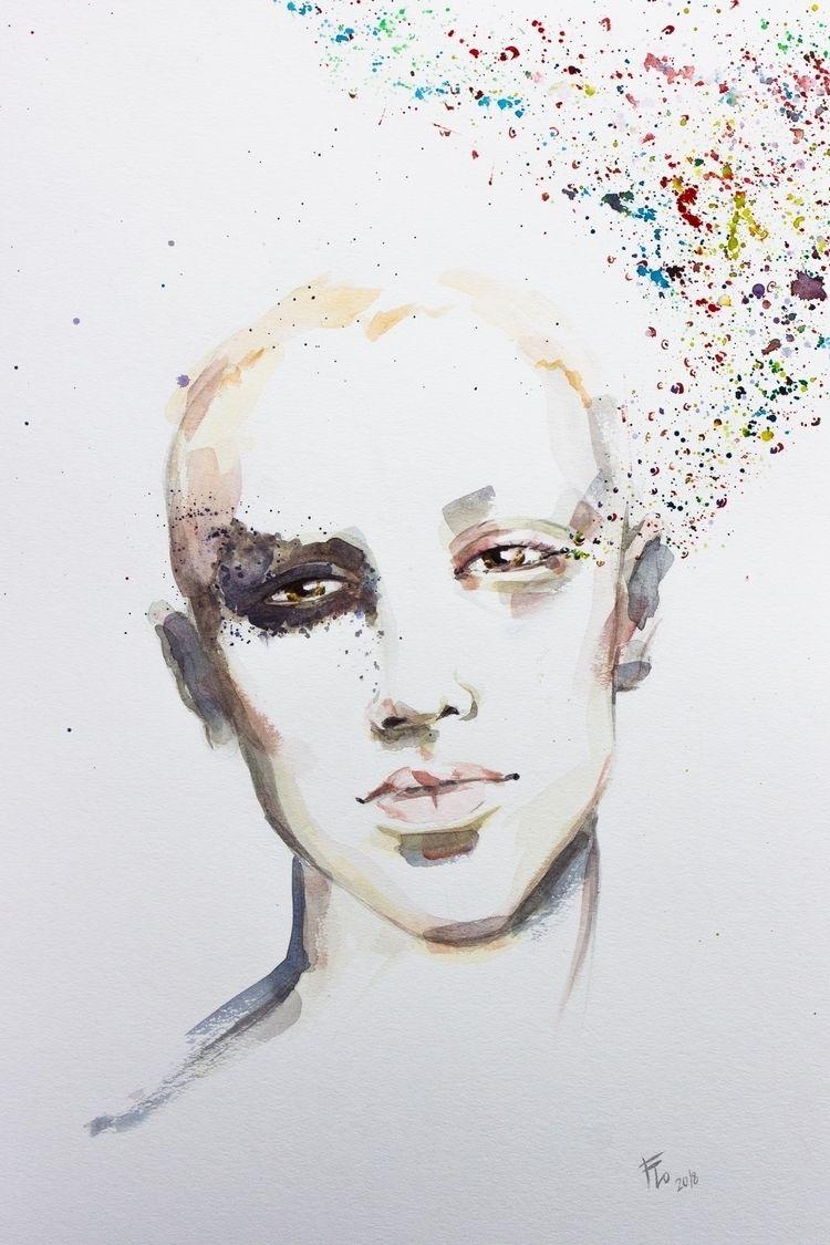 Colored Ink - multicolor, eyes, girl - flolmi | ello