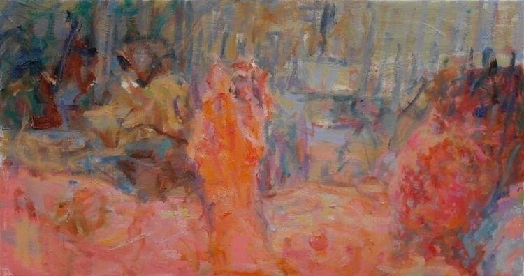 Bedroom, 40x75cm, painting oil - niels-smits-van-burgst   ello