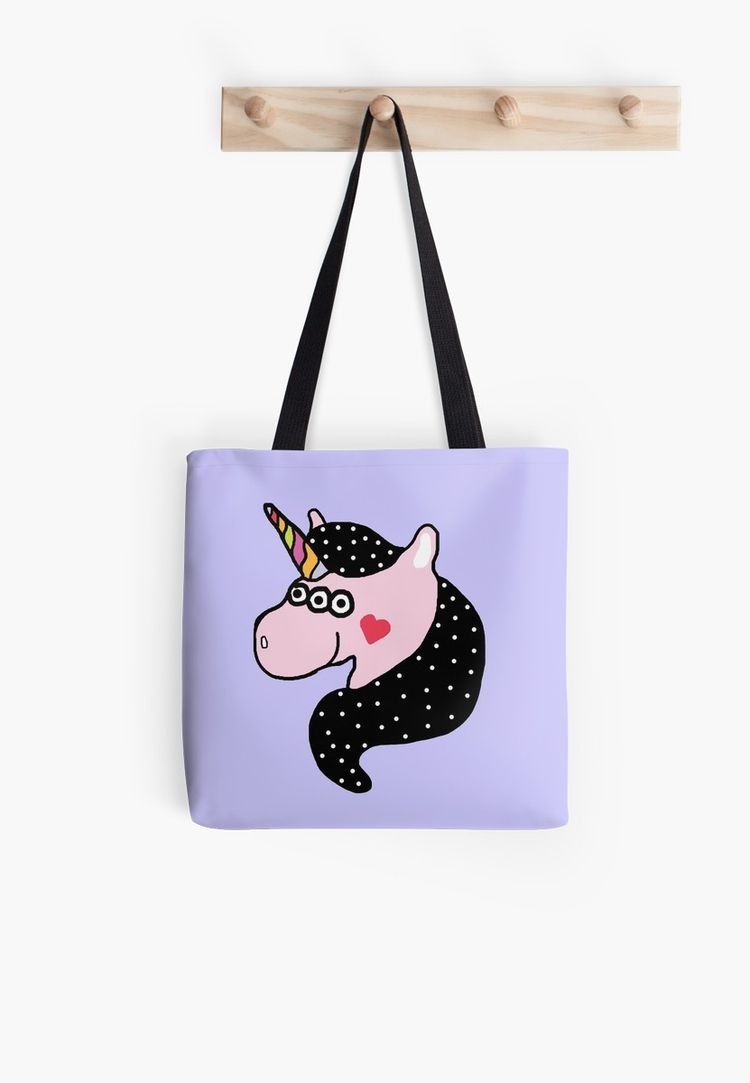 Kawaii Unicorn Totebag Red Bubb - saif-9654 | ello