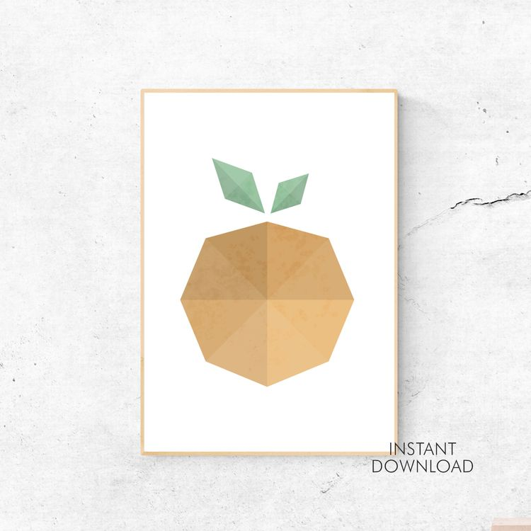 Geometric Orange Scandinavian M - artsbynaty | ello