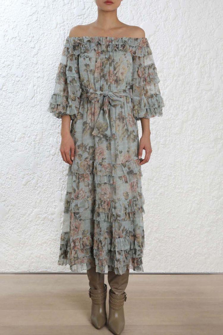 Zimmermann Tempest Ruffle Dress - lilygogo | ello