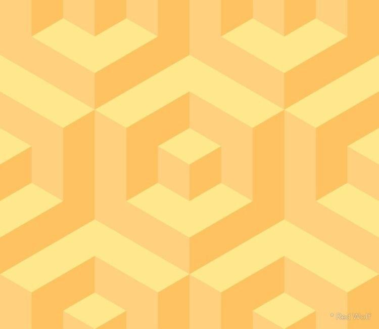 Geometric Pattern: Cube Inset:  - red_wolf | ello