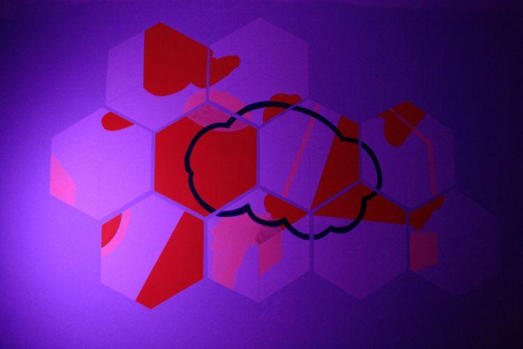 Cloud geometry, Mural installat - birdyy | ello