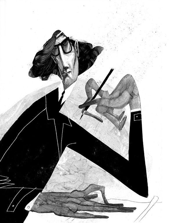 Yves Saint Laurent - illustration - ariadnagraphics | ello