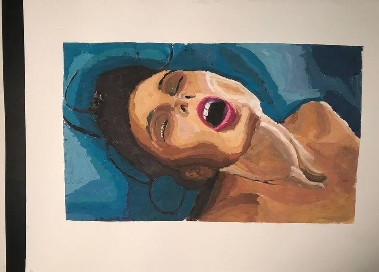 Ragazza nell' orgasmo... Oil - painting - awakenezz | ello