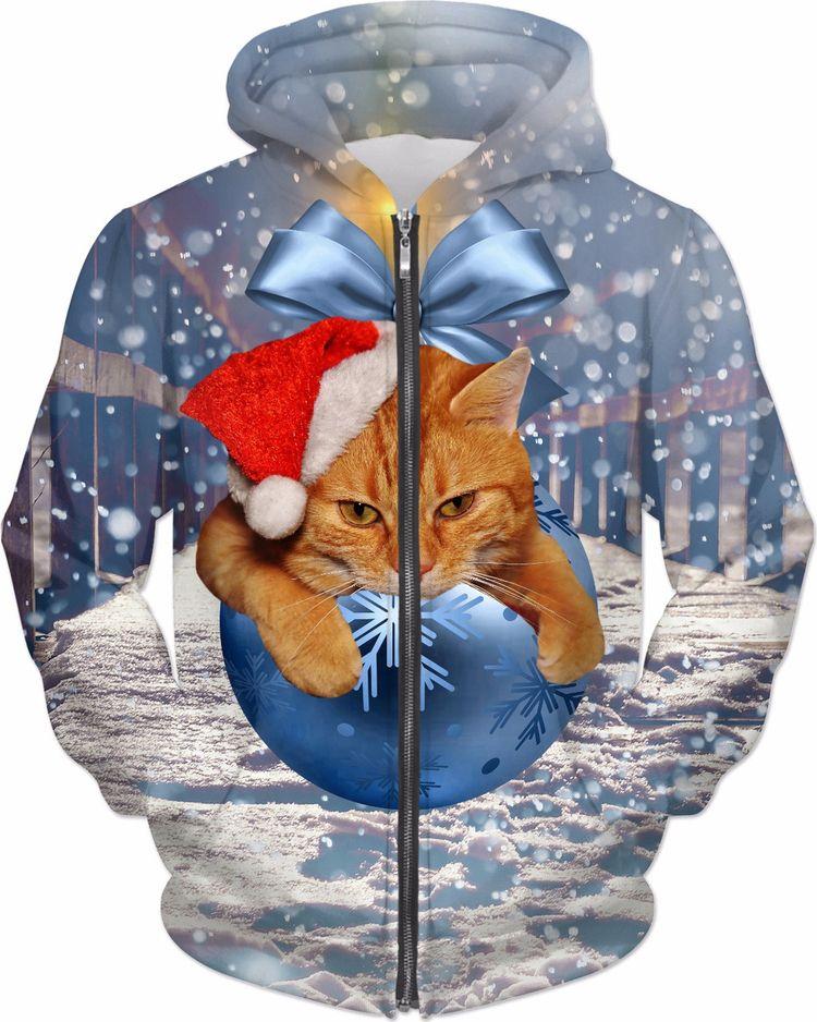 Christmas Cat Hoodie - NewOnEllo - erikakaisersot | ello
