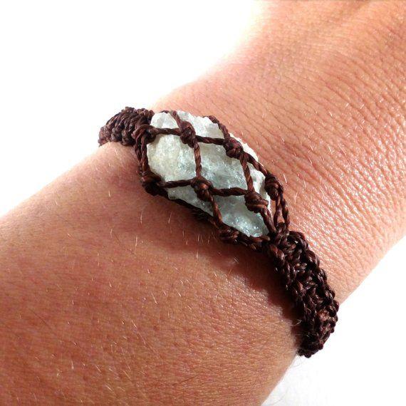aquamarine, bracelet, bodyjewelry - wrapmeacrystal | ello