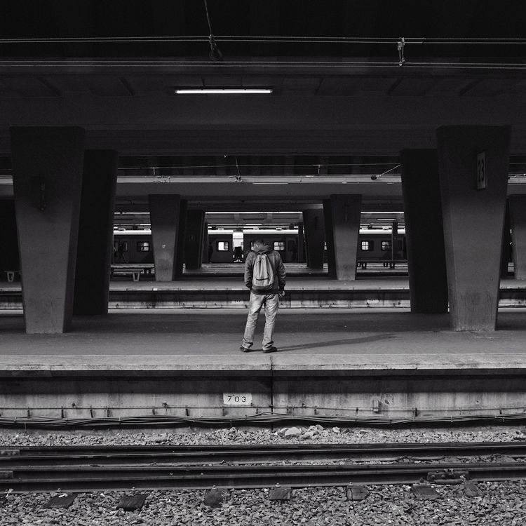 Waiting - Cape Town station - paulperton | ello