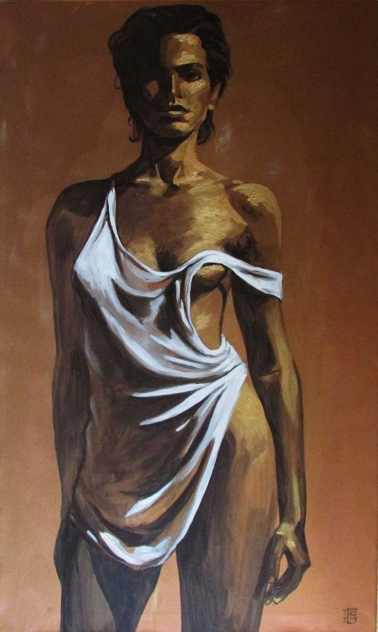 Gold Fever, acrylic, oil canvas - bortsova | ello