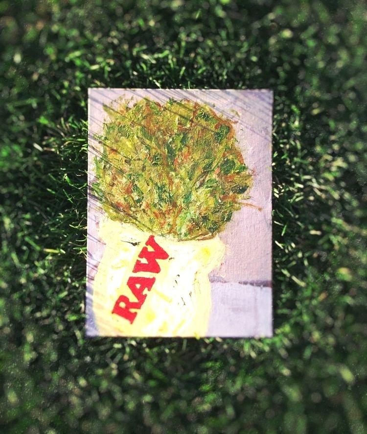 flwr pot (acrylic canvas) photo - artfulvee   ello