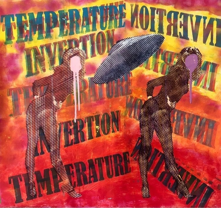 """Temoerature invertion"" . Acryl - cicerospin 
