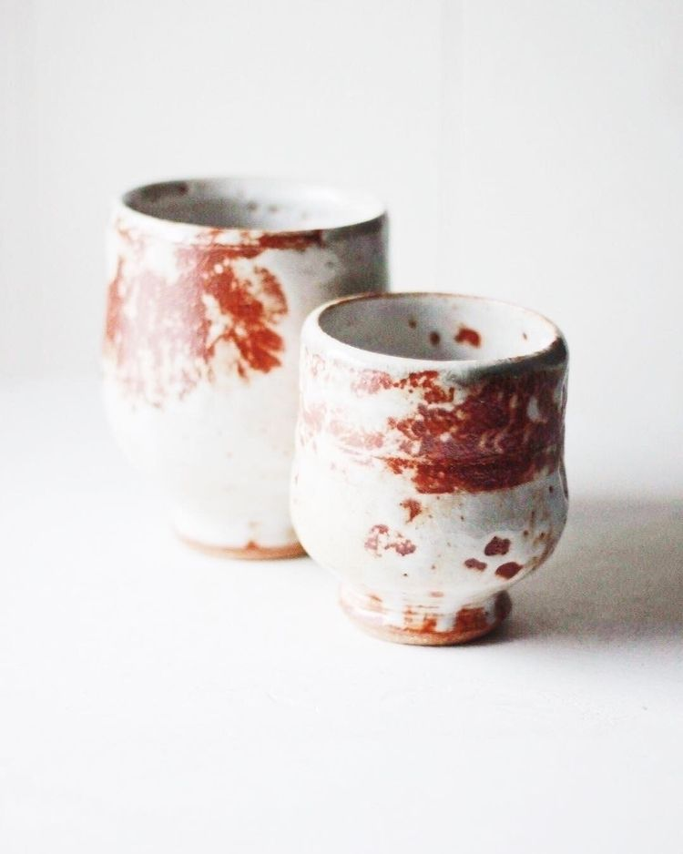 Shino time glaze, generally Jap - chrisswazie-ceramics | ello