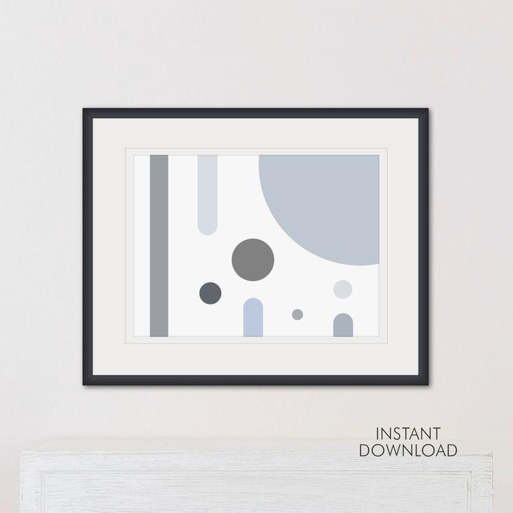 Soft Minimalist Grey Modern Wal - artsbynaty | ello