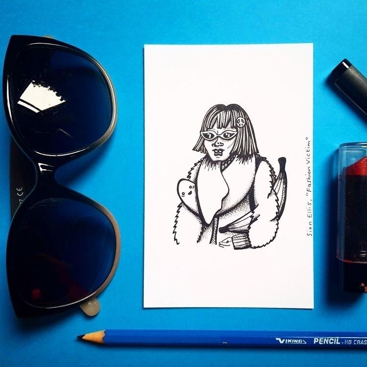 Fashion Victim, ink paper - illustration - sianellis   ello