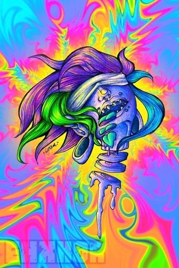 Neon vomit screen - illustration - ehxkor | ello