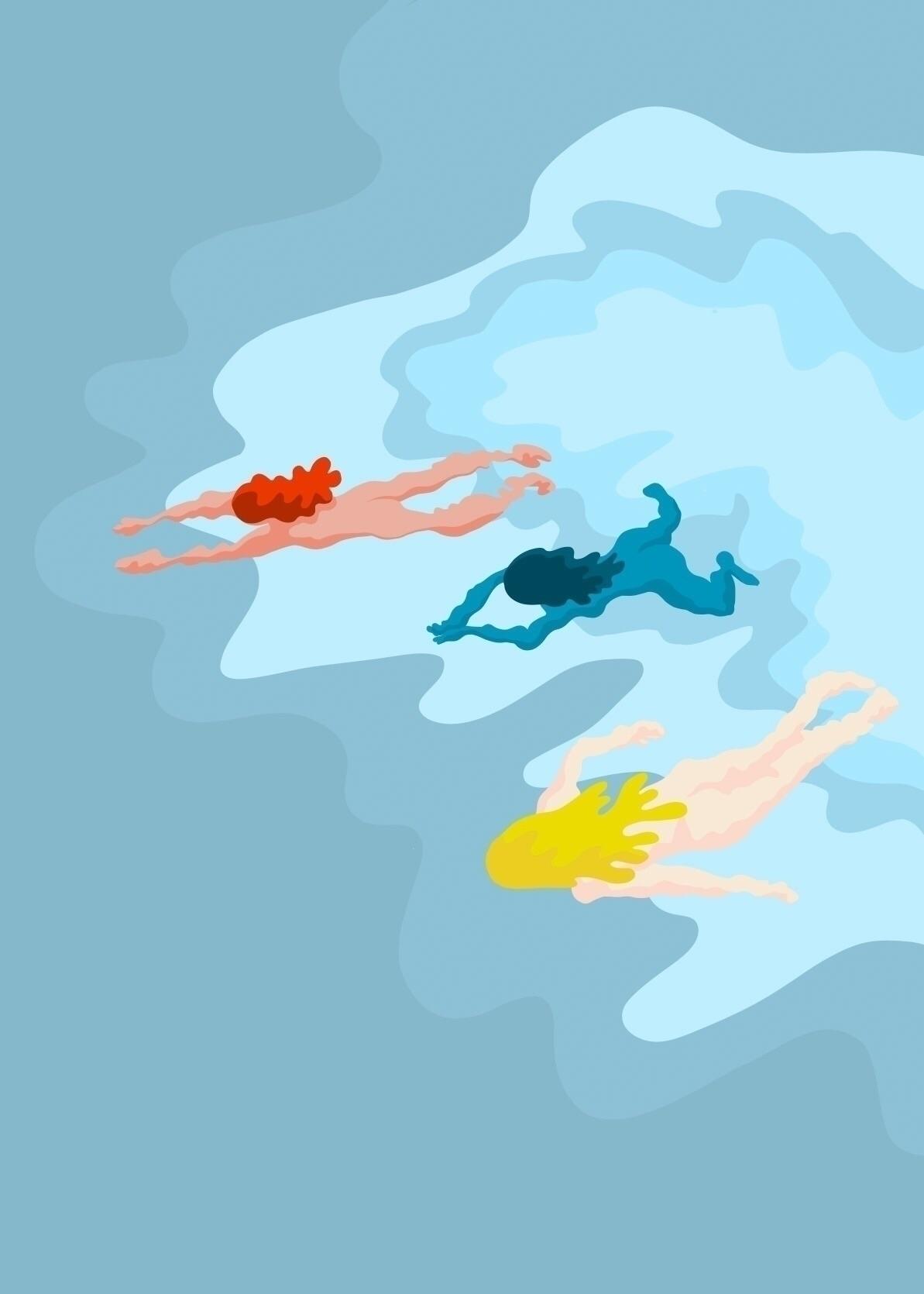 Summer Swim - cooldown, itistoohot - andreaforgacs   ello
