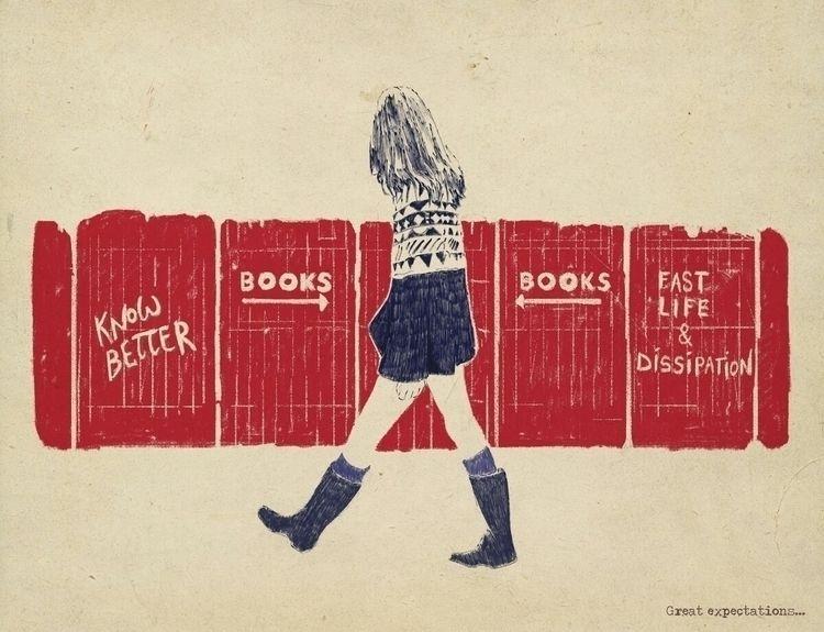 Books - illustration, readbooks - zoe_vadim | ello