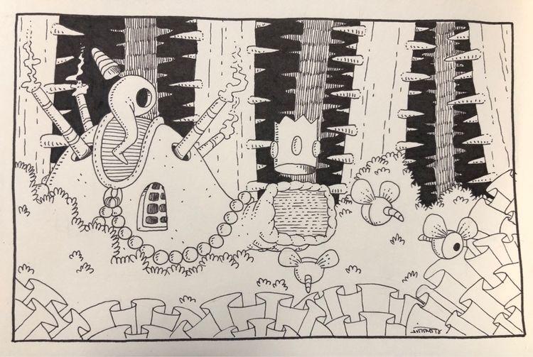 TV monster - illus, art, drawing - jimmy-draws | ello