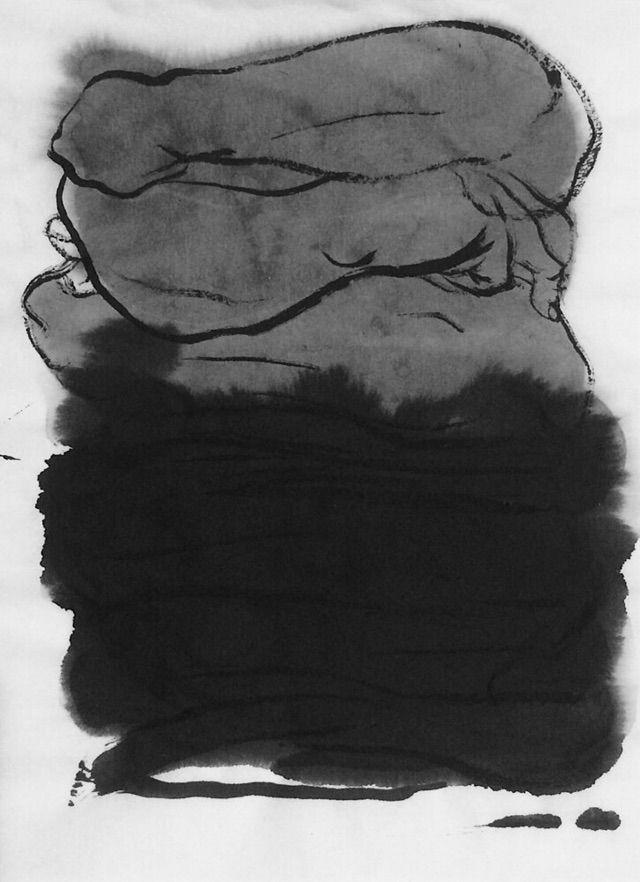 art, inkwash, figurative, mlui - mlui | ello