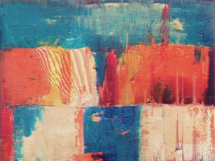 Number (Orange Blue), 2018 Prin - jrdsctt | ello