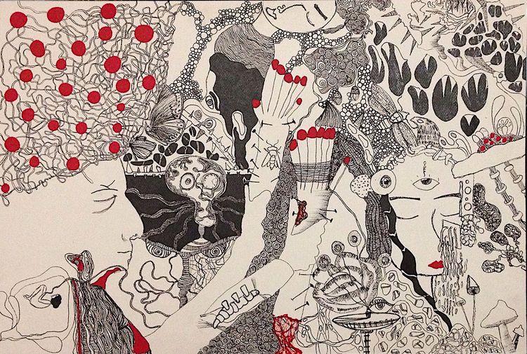 doodle, art, ink, line - sandramaher_ | ello