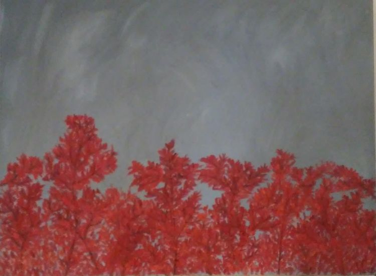 Autumn Clouds Red 12' 16 oil ca - robinccpoole | ello