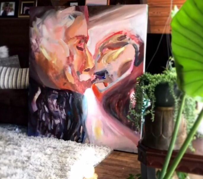KISS 5 ft ft, oil painting canv - blflood | ello