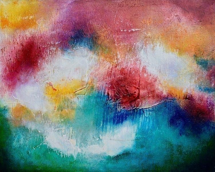 Original oil painting titled Co - createdbychrista   ello