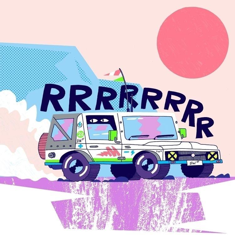 Jeep - illustration, vroom, cars - eastworthingsfinest   ello