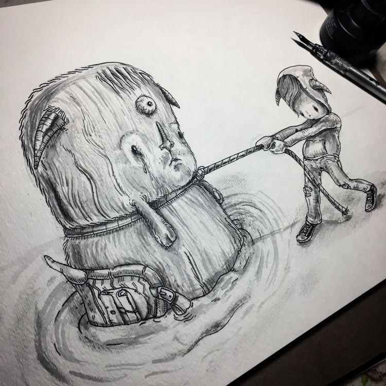 anchor. :anchor:️ - illustration - albertmontoya | ello