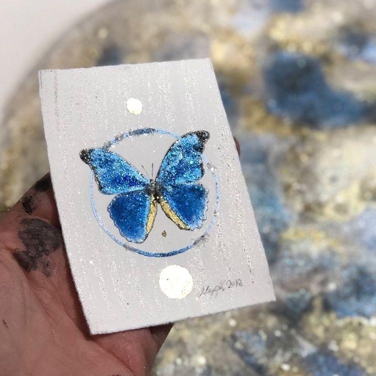 butterfly commission - watercolor - alexakarabin | ello
