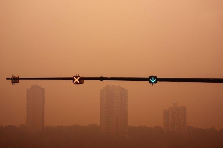 Stay Lane... Wildfire smoke lan - jeff_day | ello