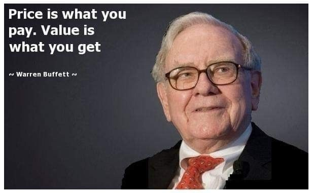 Price Pay. . Warren Buffet~ - athingaday - dare2bare | ello