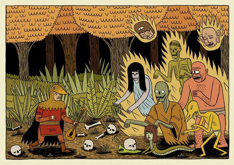 Woodland Ghosts - illustration, digitalart - jackteagle | ello