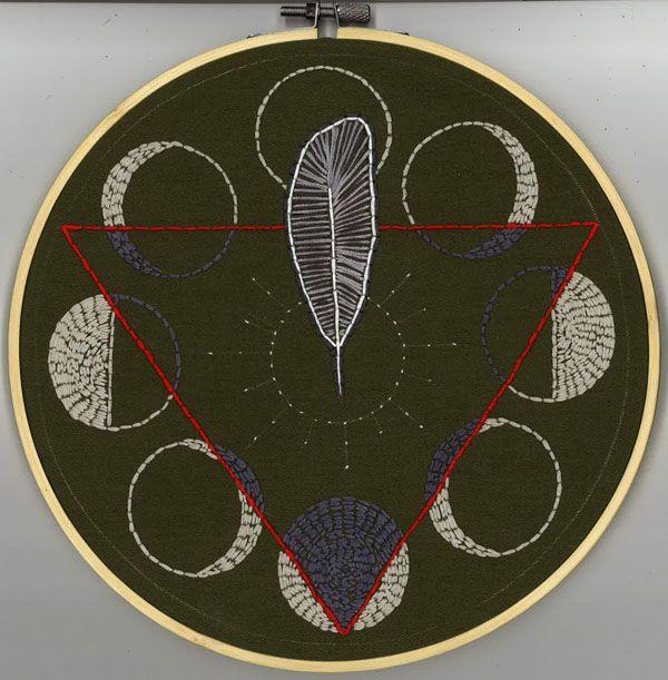 2018 embroidery - feather moon  - ctrl-alt-delange | ello