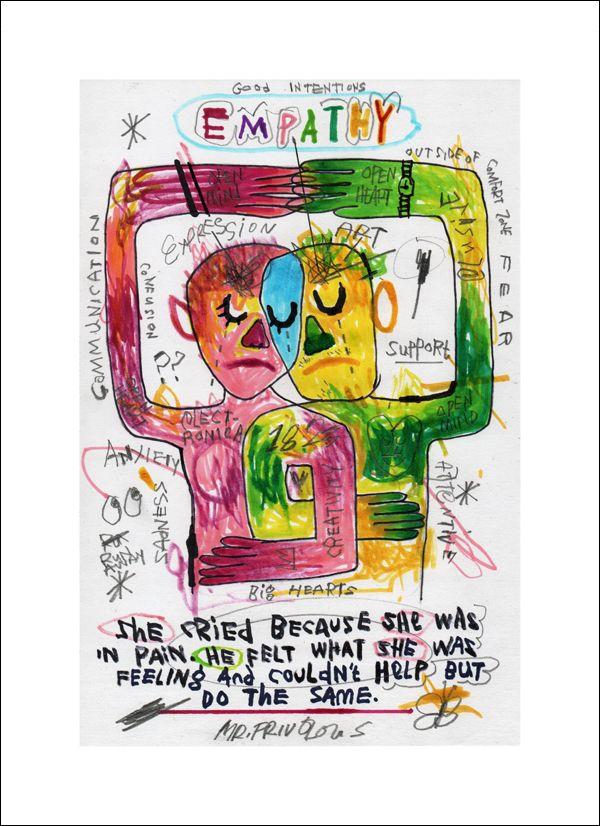EMPATHY Giclee print 308 gsm Ha - mrfrivolous | ello