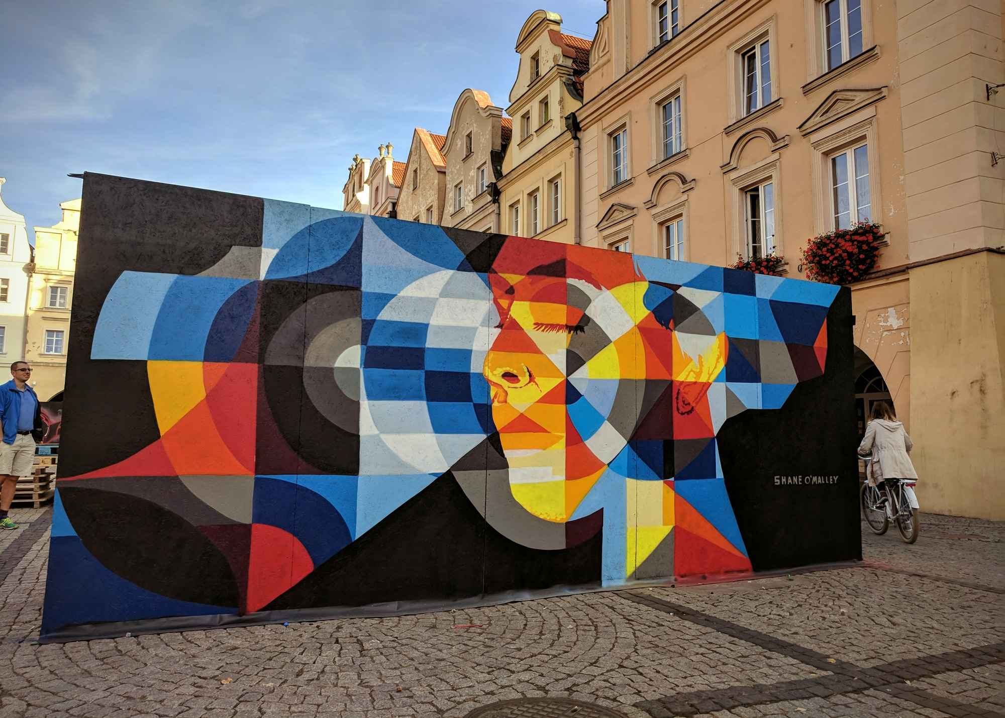 Mural painted Poland months sun - shaneomalleyart   ello