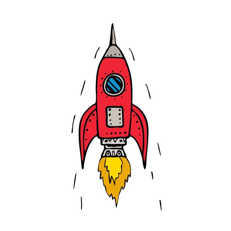 Vintage Rocket Ship Blasting Dr - patrimonio | ello