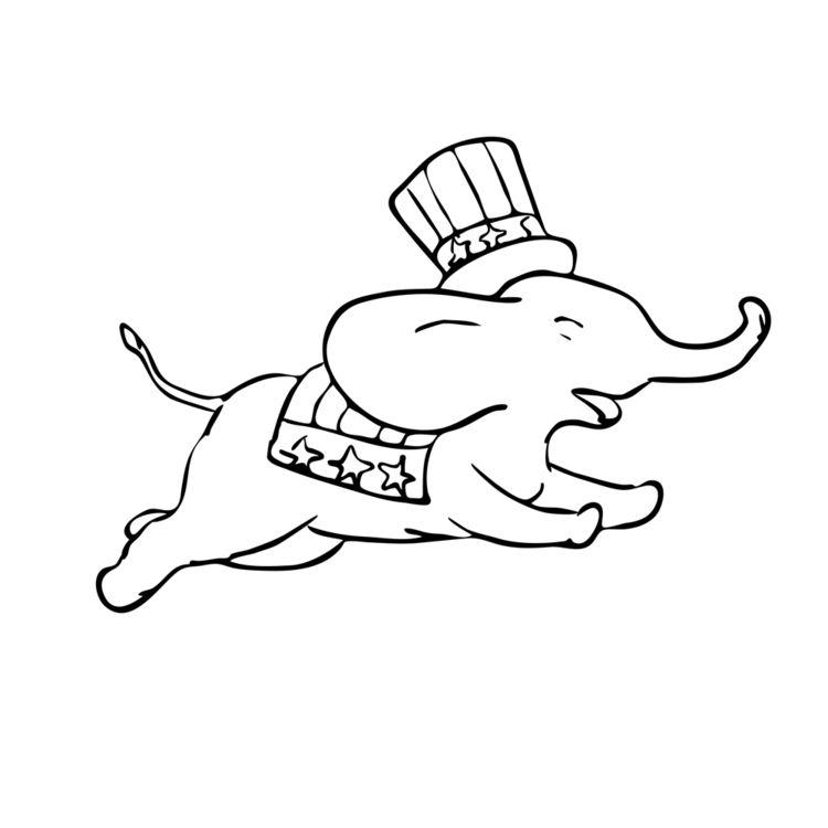 Elephant Jumping Black White Dr - patrimonio | ello