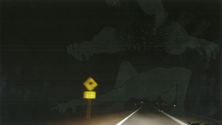 Driving night darkness monster  - nodjadong | ello