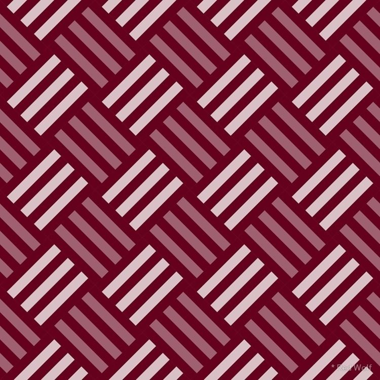 Geometric Pattern: Weave: Red  - red_wolf | ello